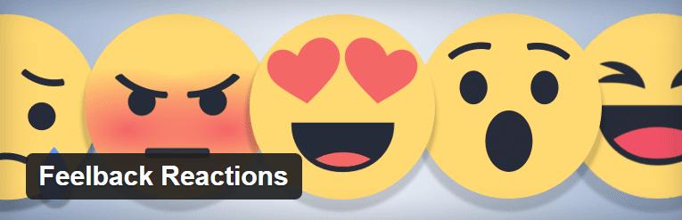A screenshot of the Feelback Reactions header.