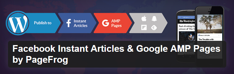 The Facebook Instant Articles and Google AMP Pages plugin header.