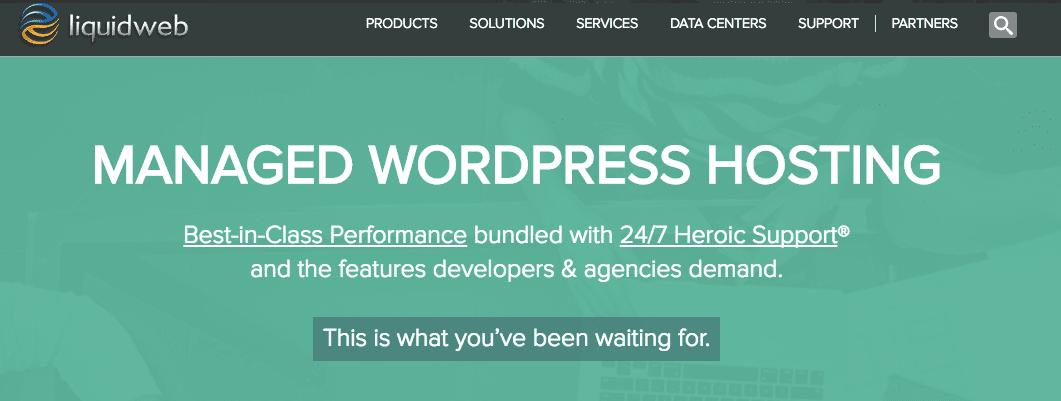 LiquidWeb Managed WordPress hosting