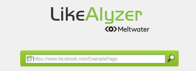 Screenshot of Likealyzer's homepage.