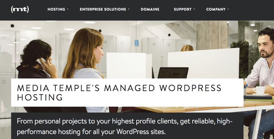 Media Temple's Managed WordPress hosting