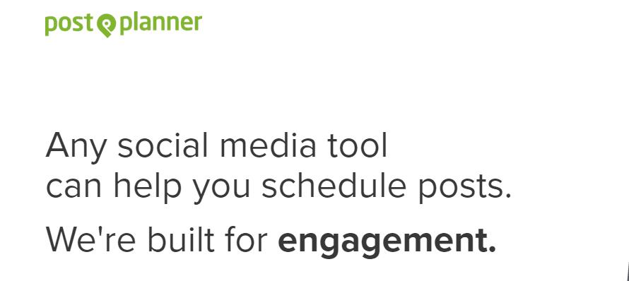 Screenshot of PostPlanner's homepage.