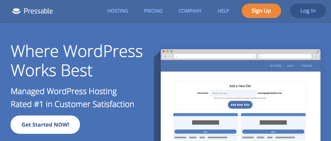 Pressable hosting