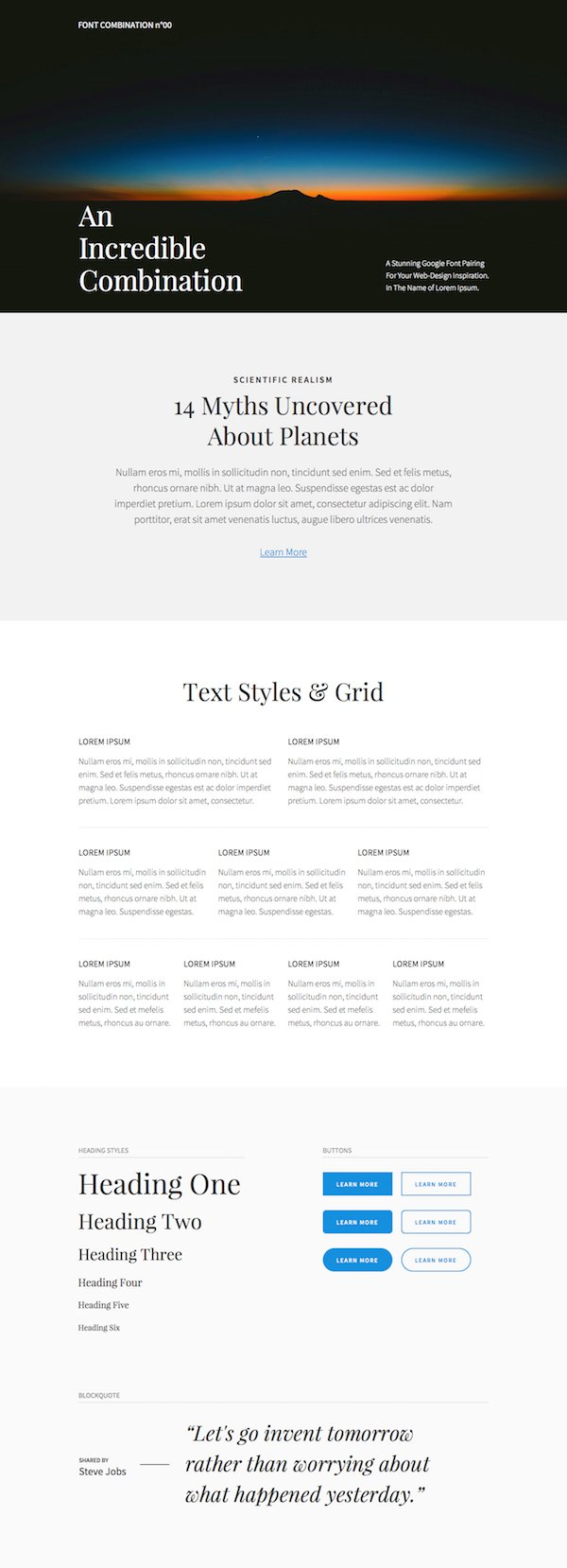 Divi Font Combination Layout Pack Full
