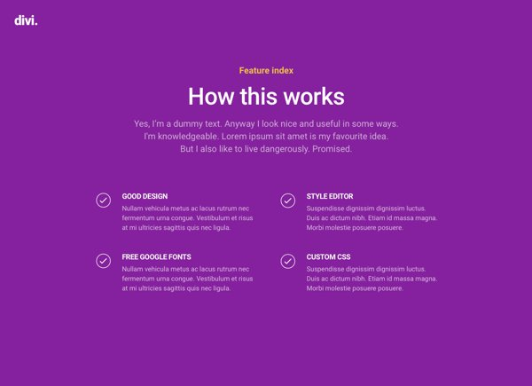 free divi feature list layout pack will help you showcase what you