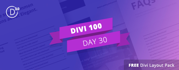 The Free Divi FAQ Layout Pack is the Answer to Boring FAQ Page Designs