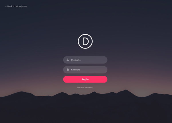 Free Divi Custom Login Page Extension Allows You To Easily