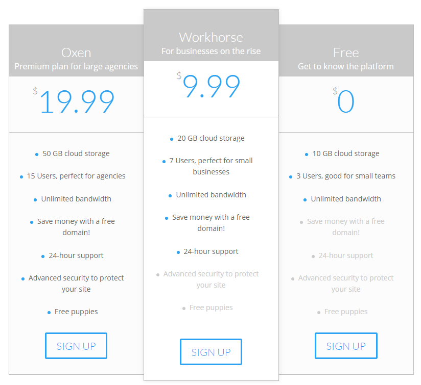 An example of the anchoring technique on a Divi pricing table.