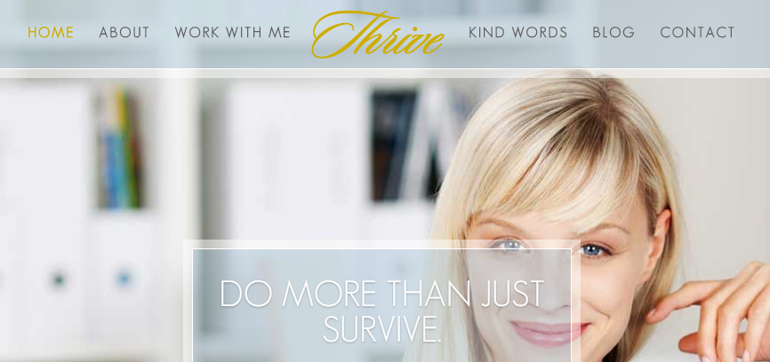 A screenshot from the Thrive demo site.
