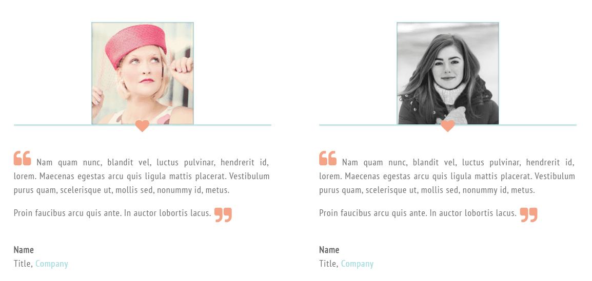 A screenshot from Versatile's testimonials section.