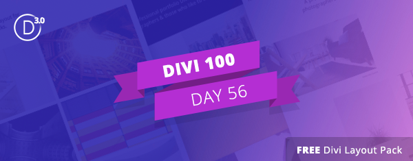 Free Divi Download: Homepage Portfolio Layout Pack
