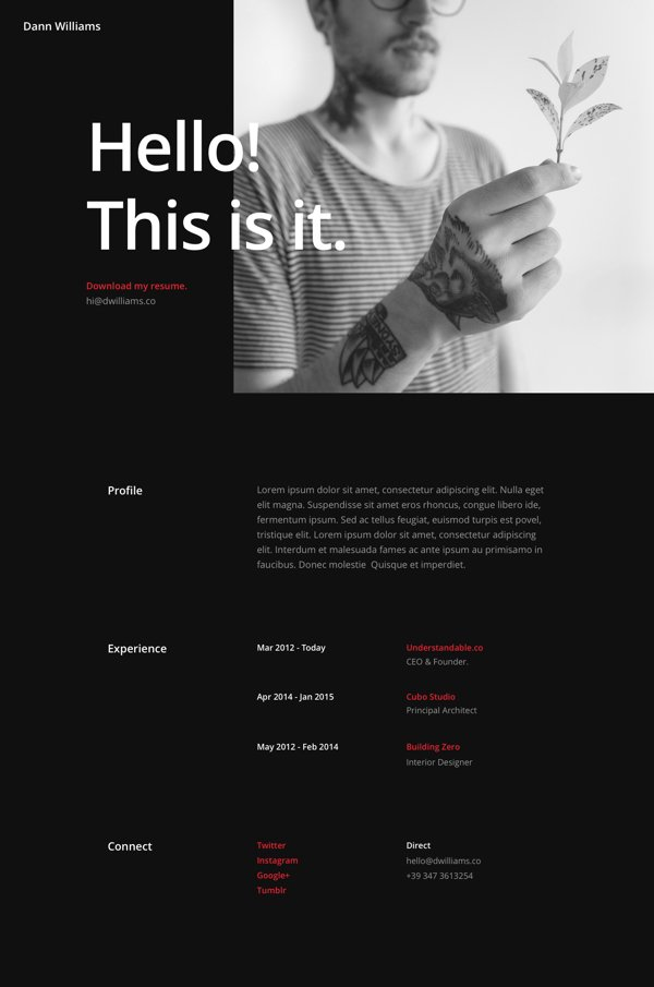 free divi download  resume pages layout pack