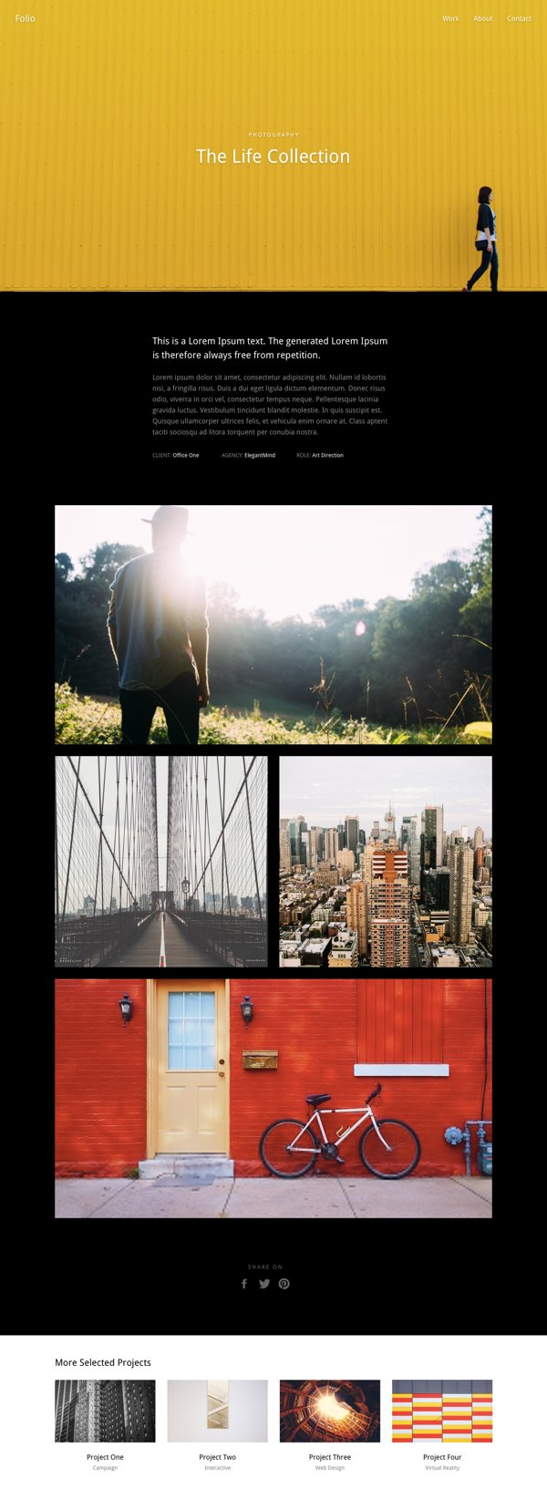 Creative Single Page Portfolio Layouts