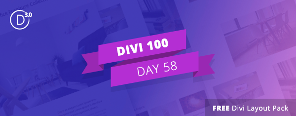 Free Divi Download: Creative Single Page Portfolio Layout Pack