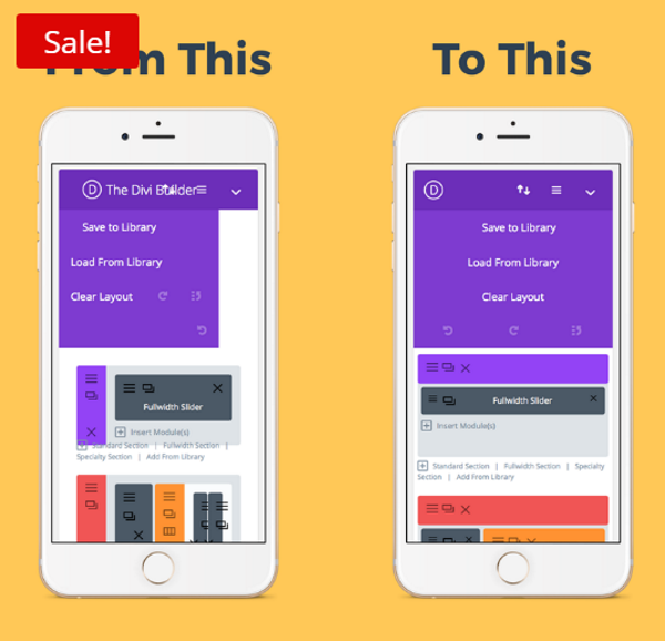 A Mobile Friendly Divi and Extra Page Builder