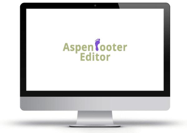 Aspen Footer Editor