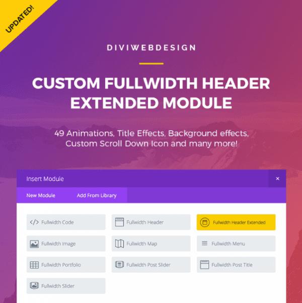 Custom Fullwidth Header Extended Module