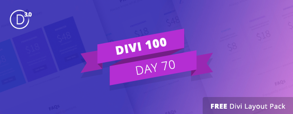 Free Divi Downloads: Creative Pricing Tables Layout Kit