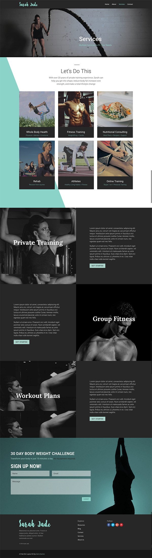 Divi-Crossfit-Fitness-Layout-Pack-Services