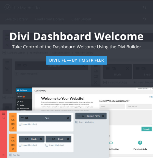 Divi Dashboard Welcome