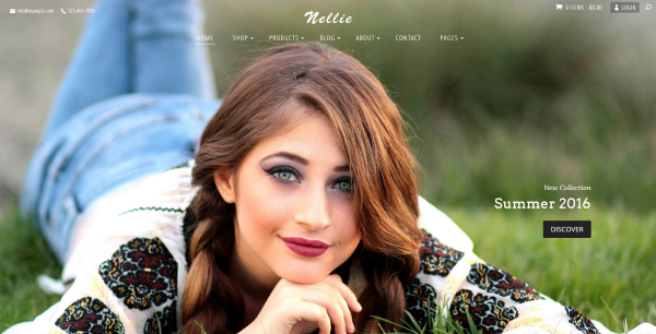 Nellie - one of the best wordpress ecommerce child themes from Divi