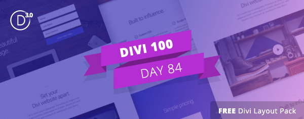 Download Another Free Divi Landing Pages Layout Pack Built With Our Expanding Wireframe Kit