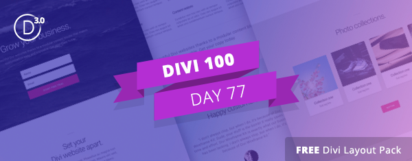 Download the Free Divi Landing Pages Layout Pack Built with