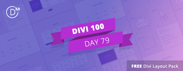 Download the Free Divi Wireframe Static Product Sections Layout Kit