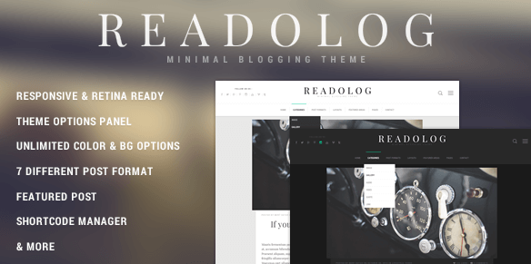 The Readalog theme.