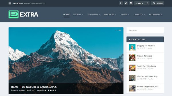 best wordPress travel themes Extra