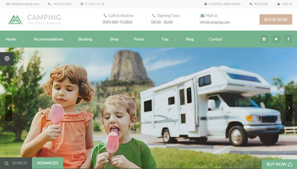 best-wordpress-travel-themes-camping