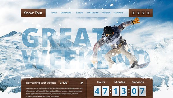 best-wordpress-travel-themes-snow-tour