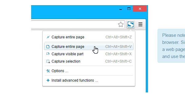 Fireshot Chrome Extension