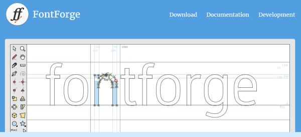 Fontforge example