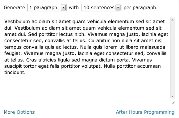 Lorem Ipsum Generator Chrome WordPress