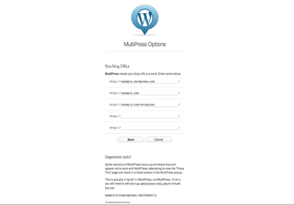 MultiPress Extension for WordPress
