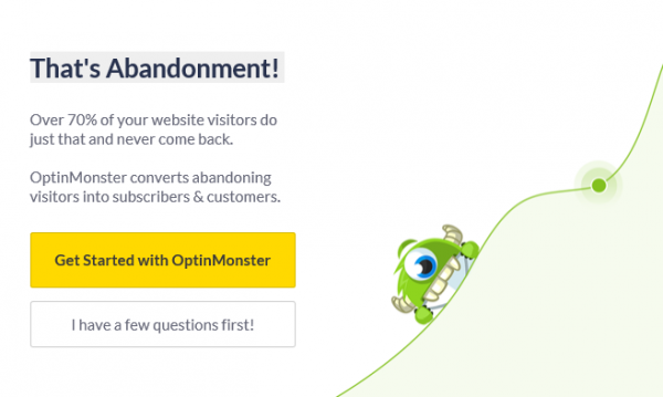 An example of an Optin Monster exit popup.
