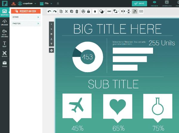 Picktochart - Create infographics for social