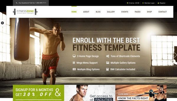 15+ Best WordPress Themes for Sports Teams and Gyms in 2016 ...