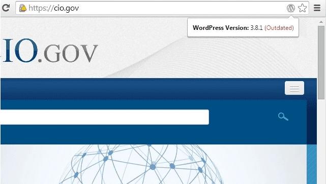 WordPress Version Check Chrome Extension