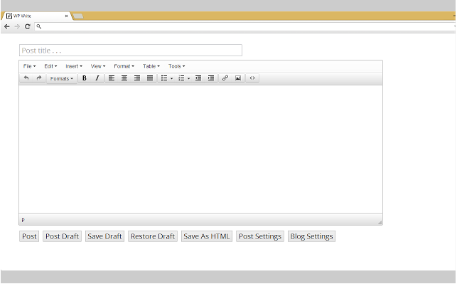 WP Write for Chrome WordPress