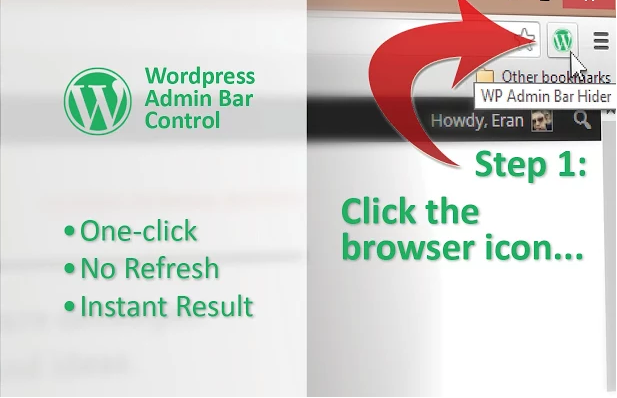 WordPress Admin Bar Control Chrome Extension