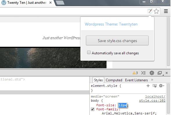 Chrome Extension WordPress Style Editor
