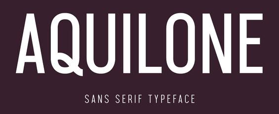 The AQUILONE font.