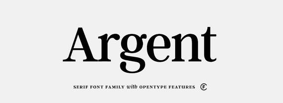 The Argent CF font.