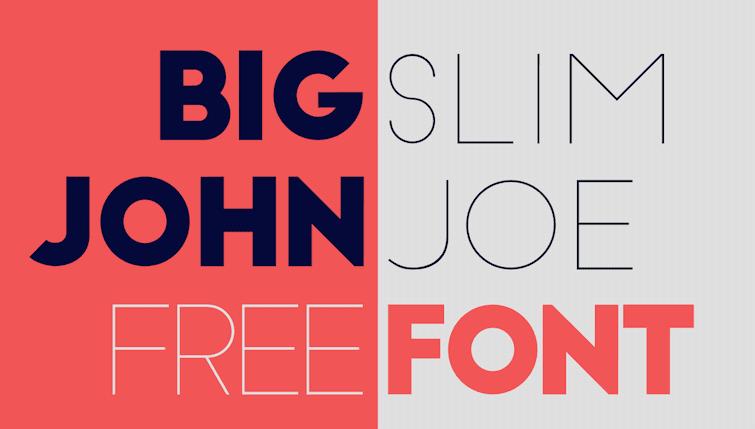 The Big Joe and Slim Joe fonts.