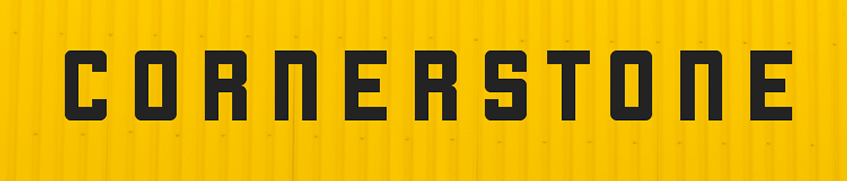 The Cornerstone font.