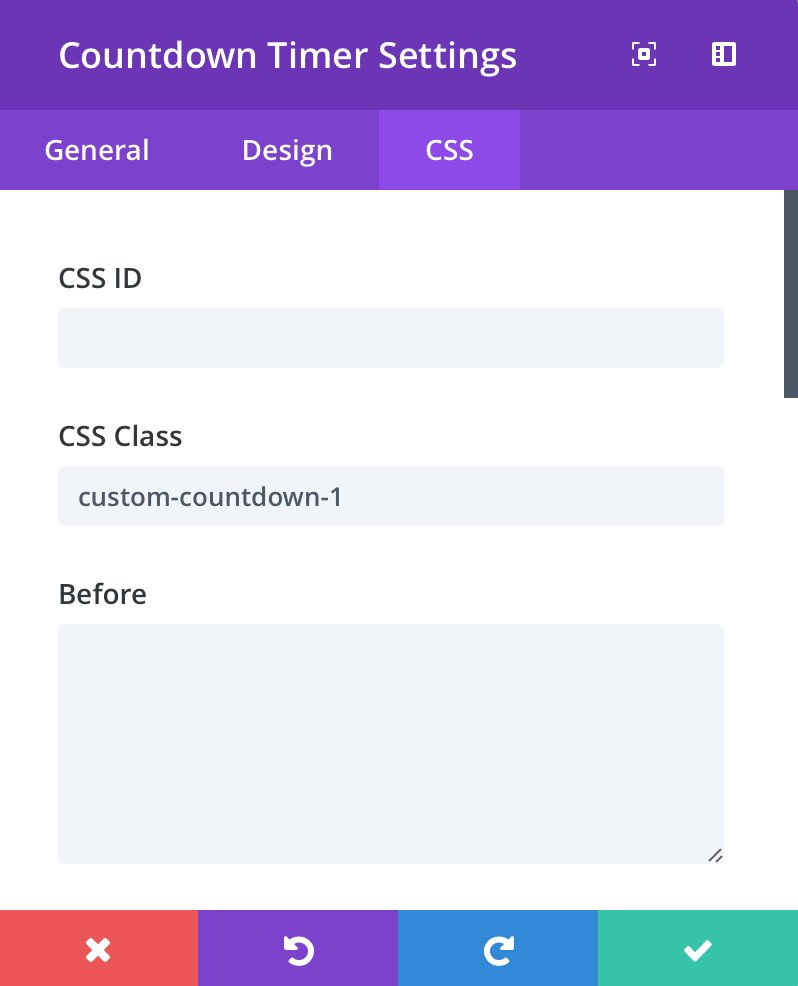 countdown-timer-css-settings