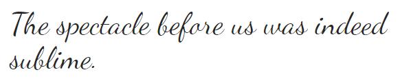 The Dancing Script font.