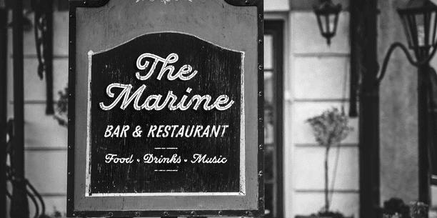 The Di Mare font.